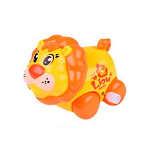 Brinquedo Carrinho Infantil Bebê Estimulante Turminha Animal Leãozinho Amarelo