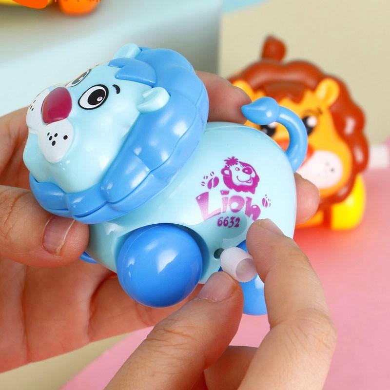 Brinquedo Carrinho Infantil Bebê Estimulante Turminha Animal Leãozinho Azul