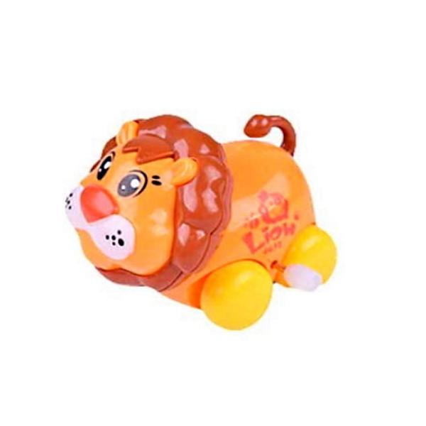 Brinquedo Carrinho Infantil Bebê Estimulante Turminha Animal Leãozinho Laranja