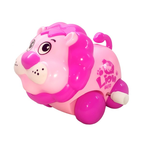 Brinquedo Carrinho Infantil Bebê Estimulante Turminha Animal Leãozinho Rosa