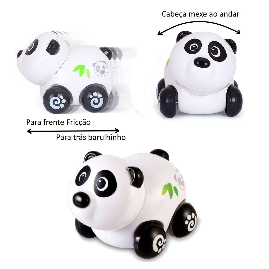 Brinquedo Carrinho Infantil Bebê Estimulante Turminha Animal Panda