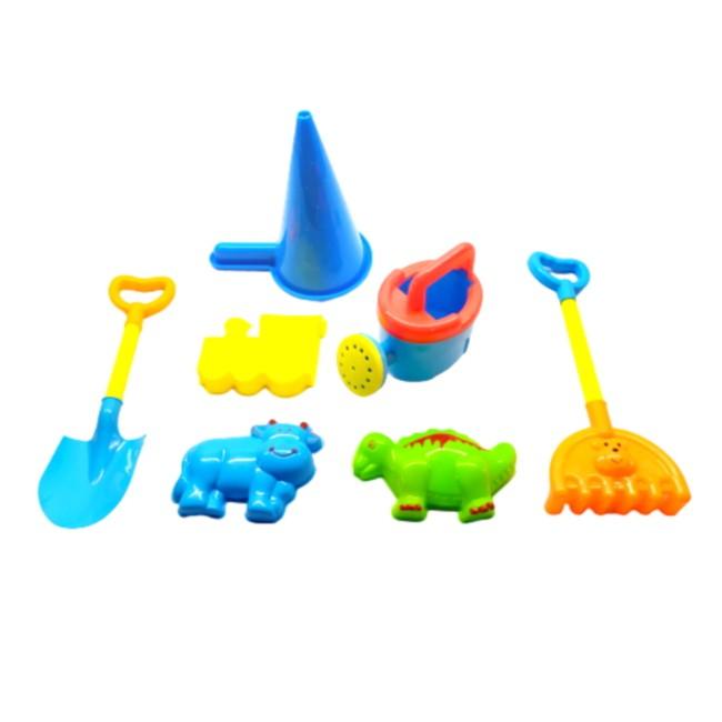 Brinquedo de Praia Infantil com Balde Pá e Acessórios - 7 peças