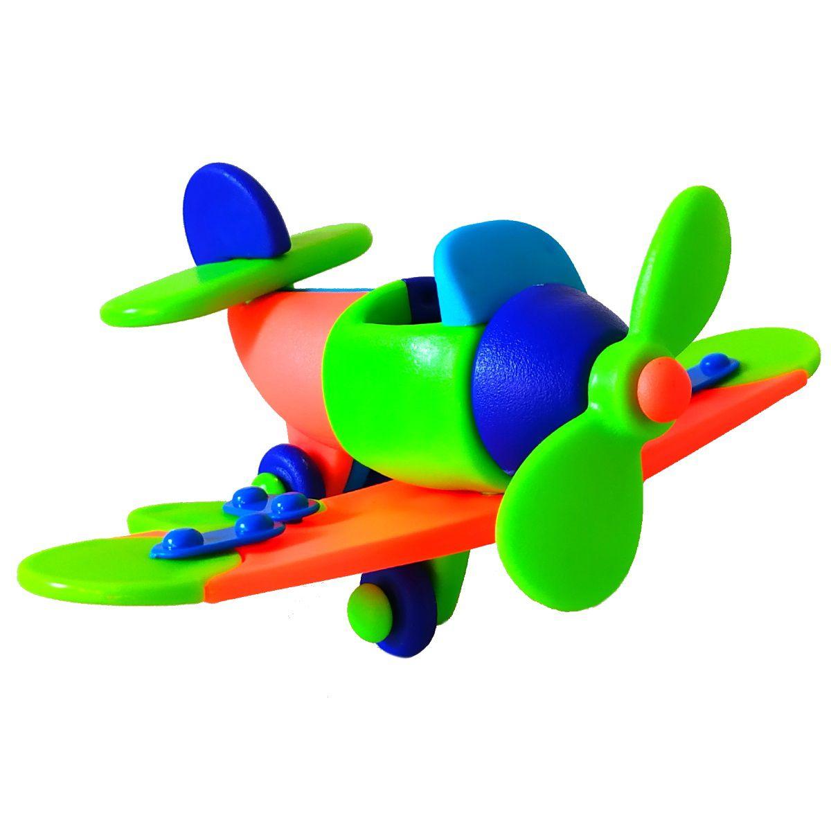 Brinquedo Educativo de Montar Kit com Caminhão Avião e Dinossauro