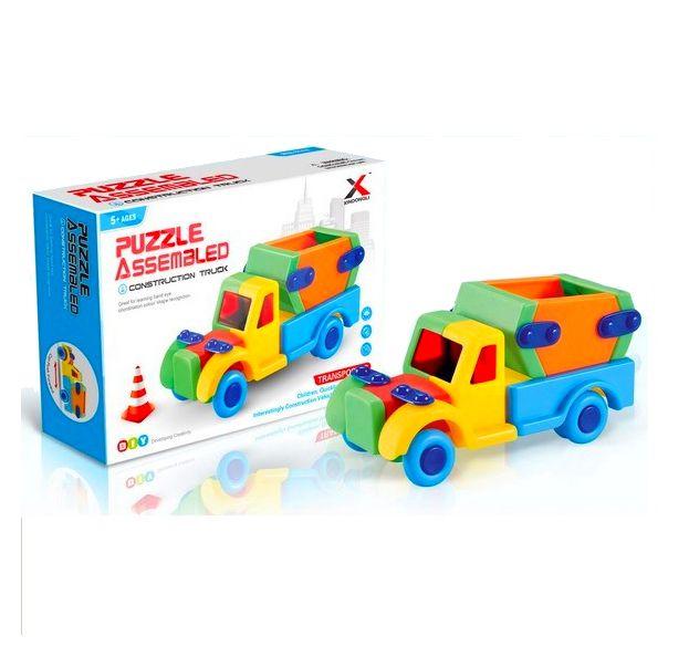 Brinquedo Educativo Infantil Caminhão de Montar Colorido