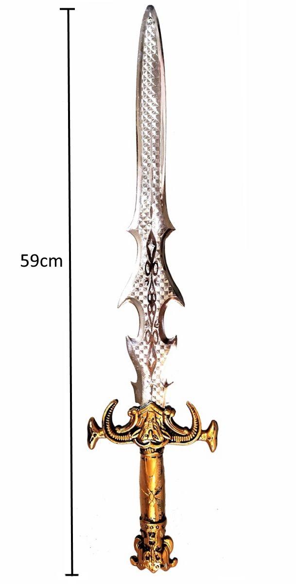 Brinquedo / Fantasia Kit Medieval Espada Lendária Com Escudo e Armadura