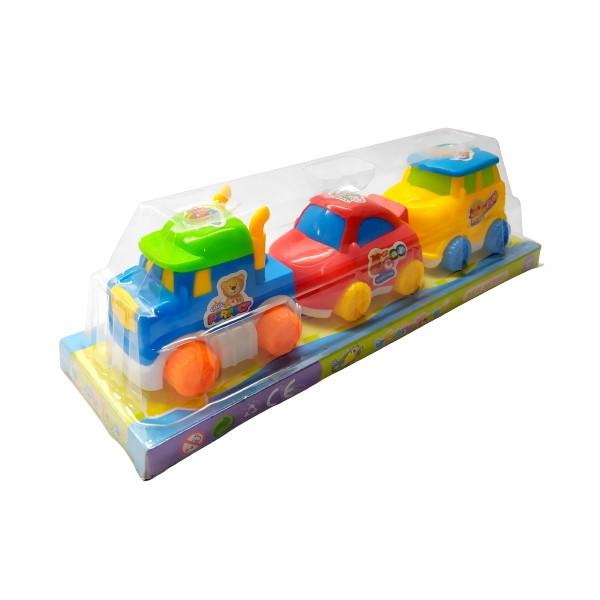 Brinquedo Infantil a Fricção Coleção com Caminhão Perua e Fusca