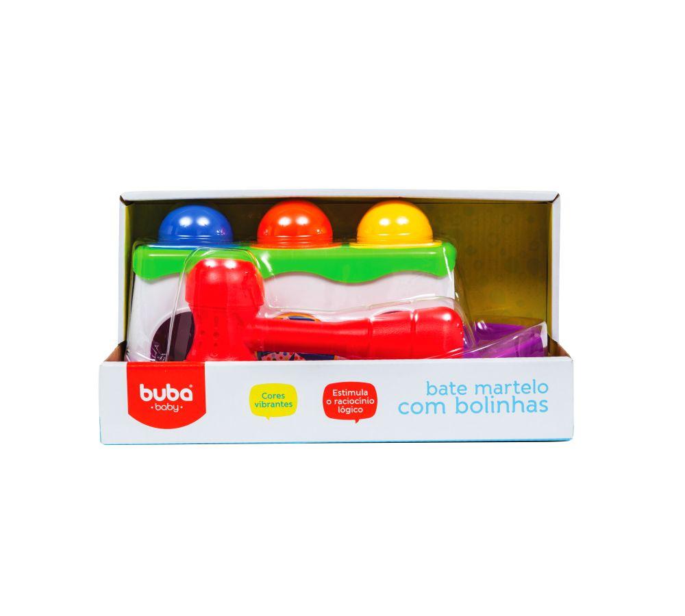 Brinquedo Infantil Bebê Estimulante Bate Martelo com Bolinhas Colorido