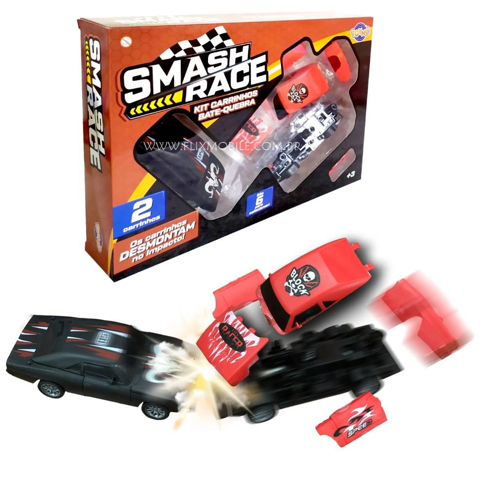 Brinquedo Infantil Carrinhos Bate e Desmonta a Fricção Coleção com 6 Carros