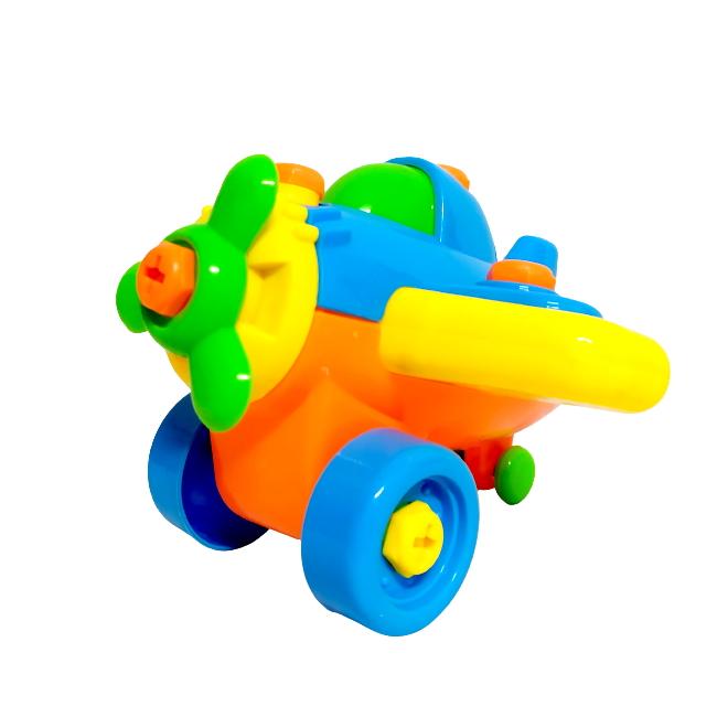 Brinquedo infantil de Montar Aviãozinho Educativo Colorido