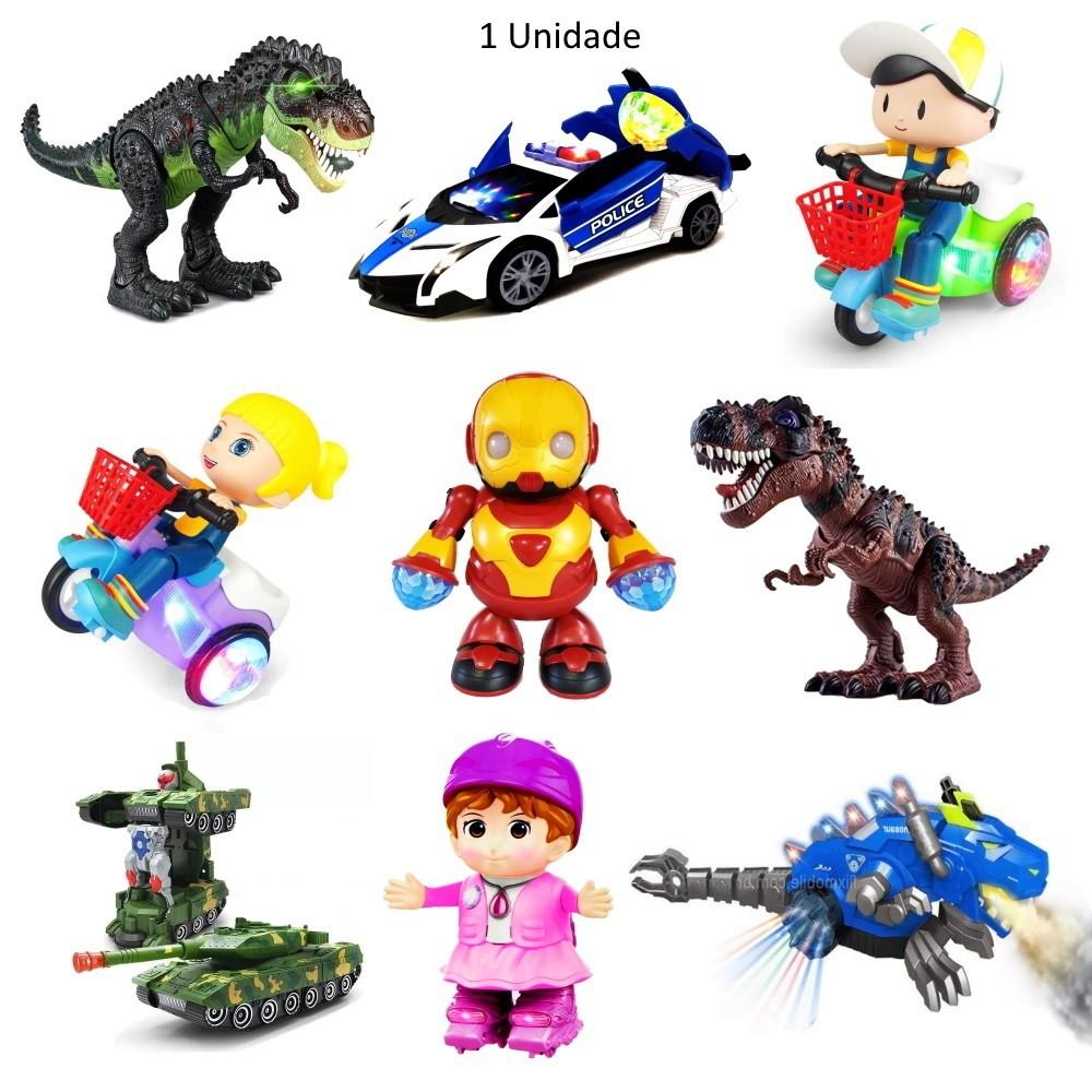 Brinquedo infantil Eletrônico Luzes Sons Movimentos - 1 un