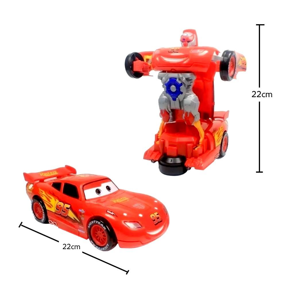 Brinquedo Infantil Transformes Carro que Vira Robô do Relâmpago Mcqueen