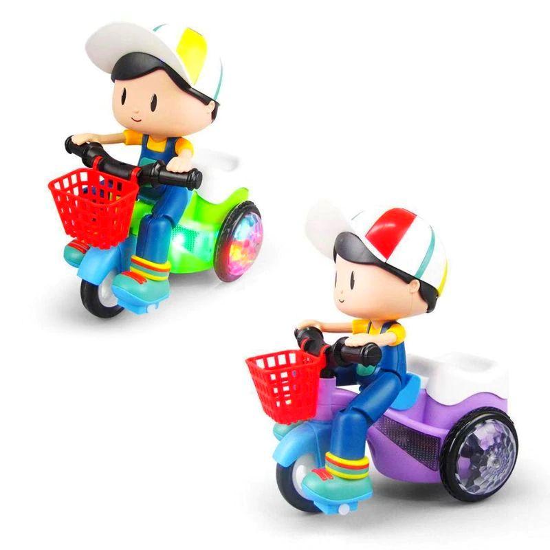 Brinquedo Musical Infantil Triciclo Luzes Musicas Empina e Gira 360
