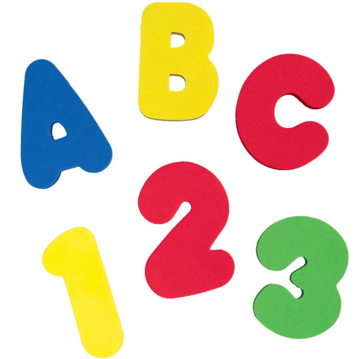 Brinquedo para Banho Letras e Números com 36 peças Buba