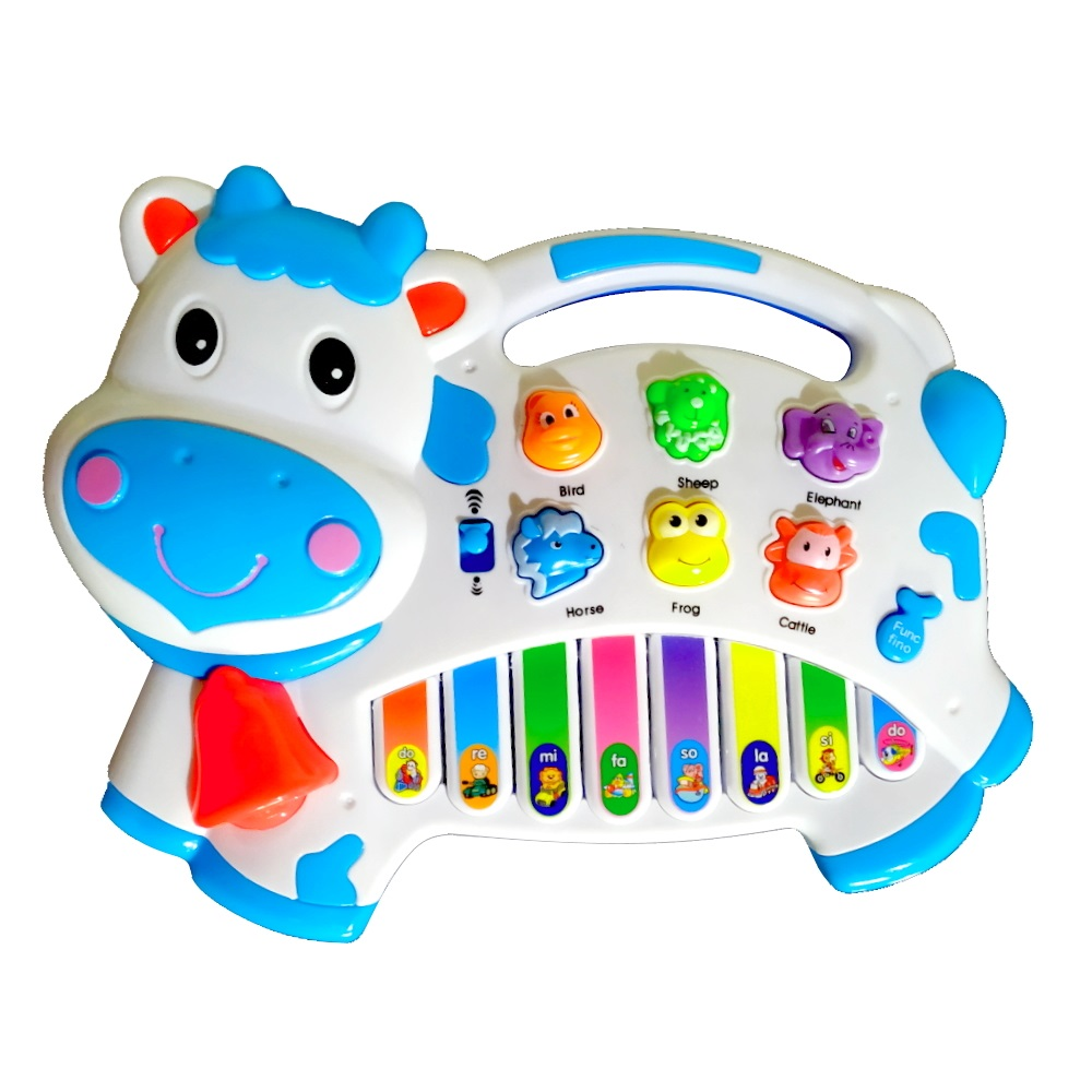 Brinquedo Pianinho Musical Baby Infantil Som Bichos Vaquinha