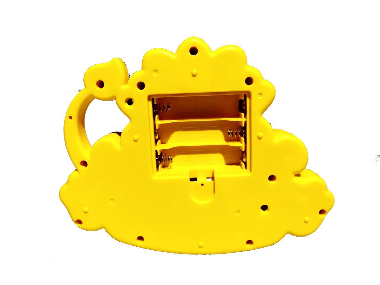 Brinquedo Pianinho Musical para Bebês Piano Infantil com Som e Luzes Leão Amarelo