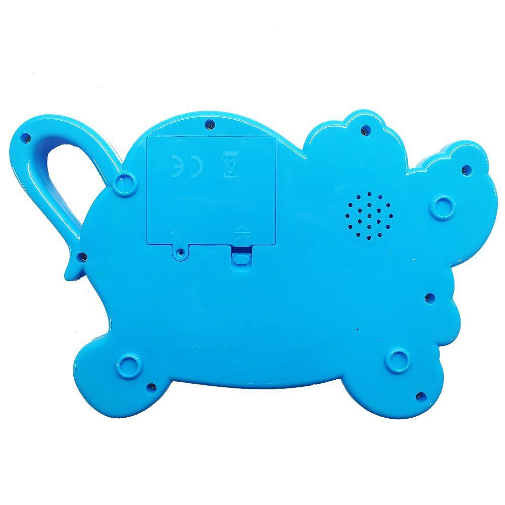 Brinquedo Pianinho Musical para Bebês Piano Infantil com Som e Luzes Pluto Azul
