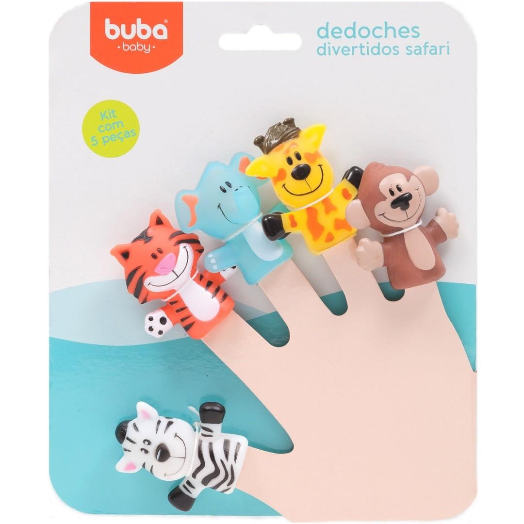 Brinquedos Infantil para bebê Kit Dedoches Safari com Animais da Selva