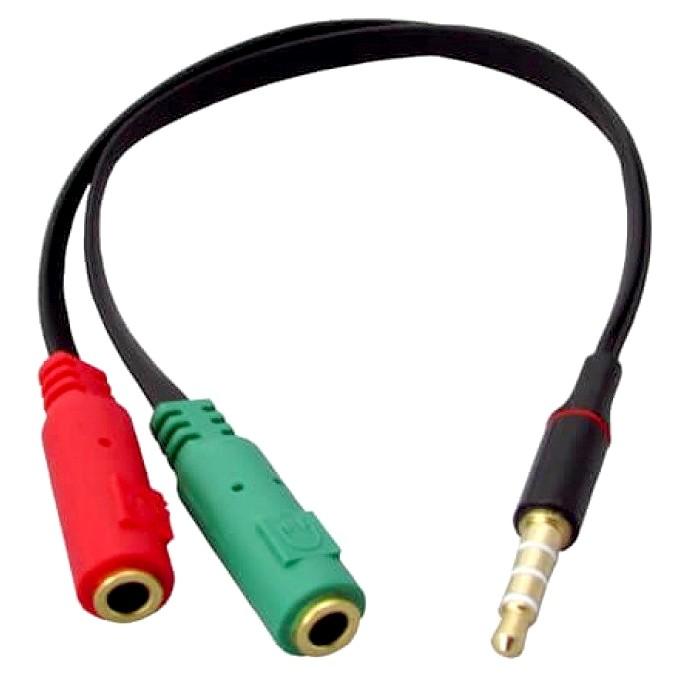 Cabo P2 para P3 de Áudio um P3 Macho para Dois P2 Fêmea para PS4 Notebook Xbox One Smatphones Headset PC XT-2132