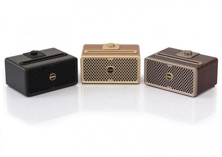 Caixa Bluetooth Retro Vintage em Madeira Portátil FM USB MP3