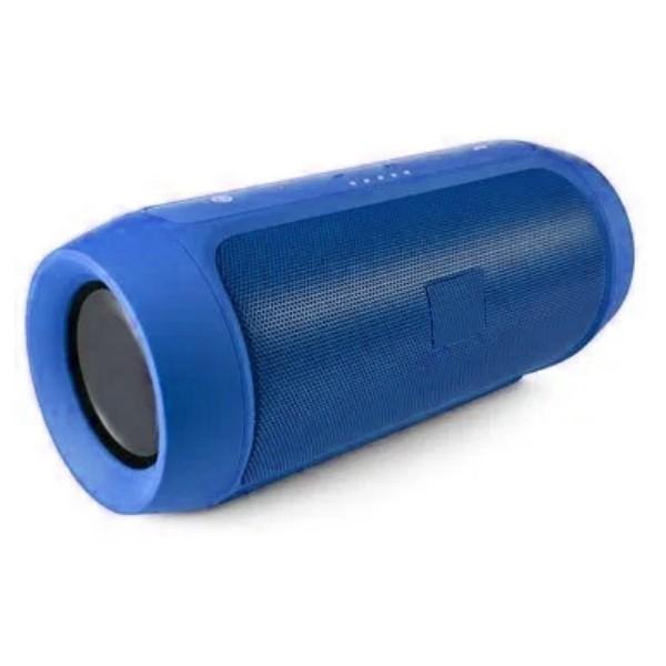 Caixa de Som Bluetooth Super LEDs Altomex Portátil com FM Azul