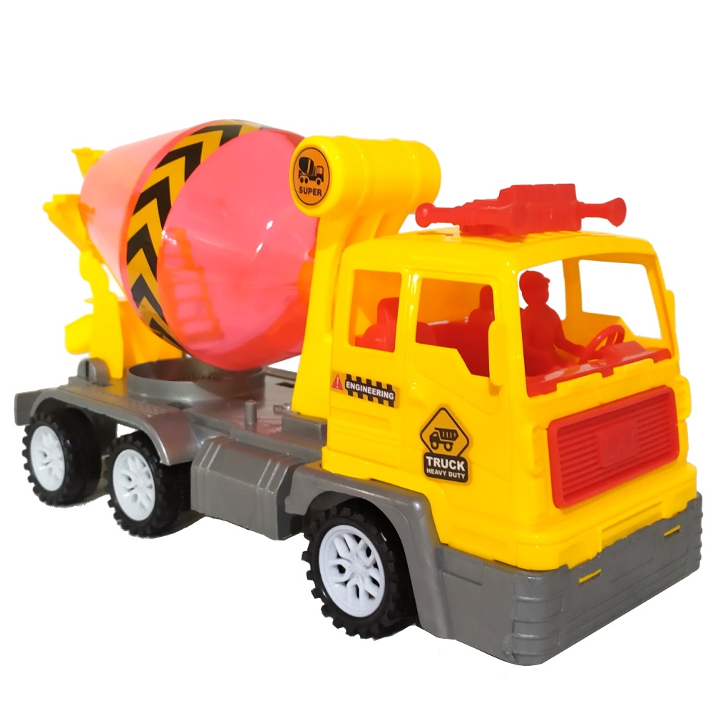 Caminhão Betoneira Fricção Brinquedo Infantil Canteiro de Obras