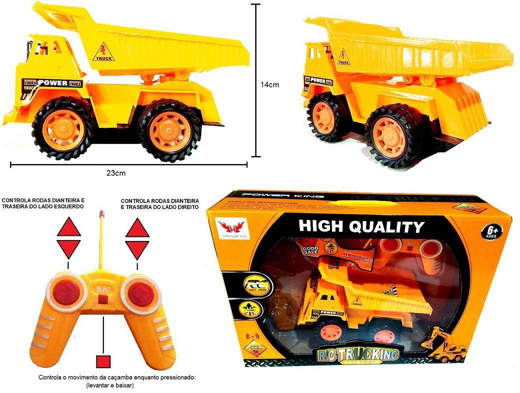Caminhão de Terra e Areia Tipo Trator de Controle Remoto 5 Canais