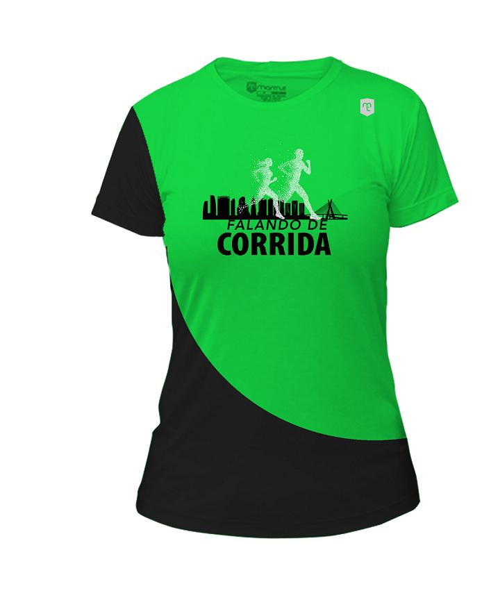 Camiseta Baby Look/ Regata Feminina de Corrida, Academia com Proteção UV50+