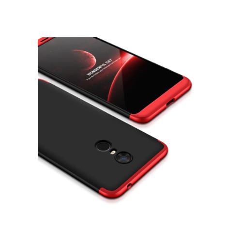 Capa 360 GKK para Xiaomi Redmi 5 - Preto com Vermelho