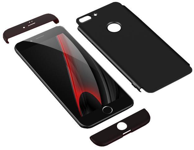 Capa 360 GKK Slim 360 iPhone 7 8 + Película de Vidro - Preta