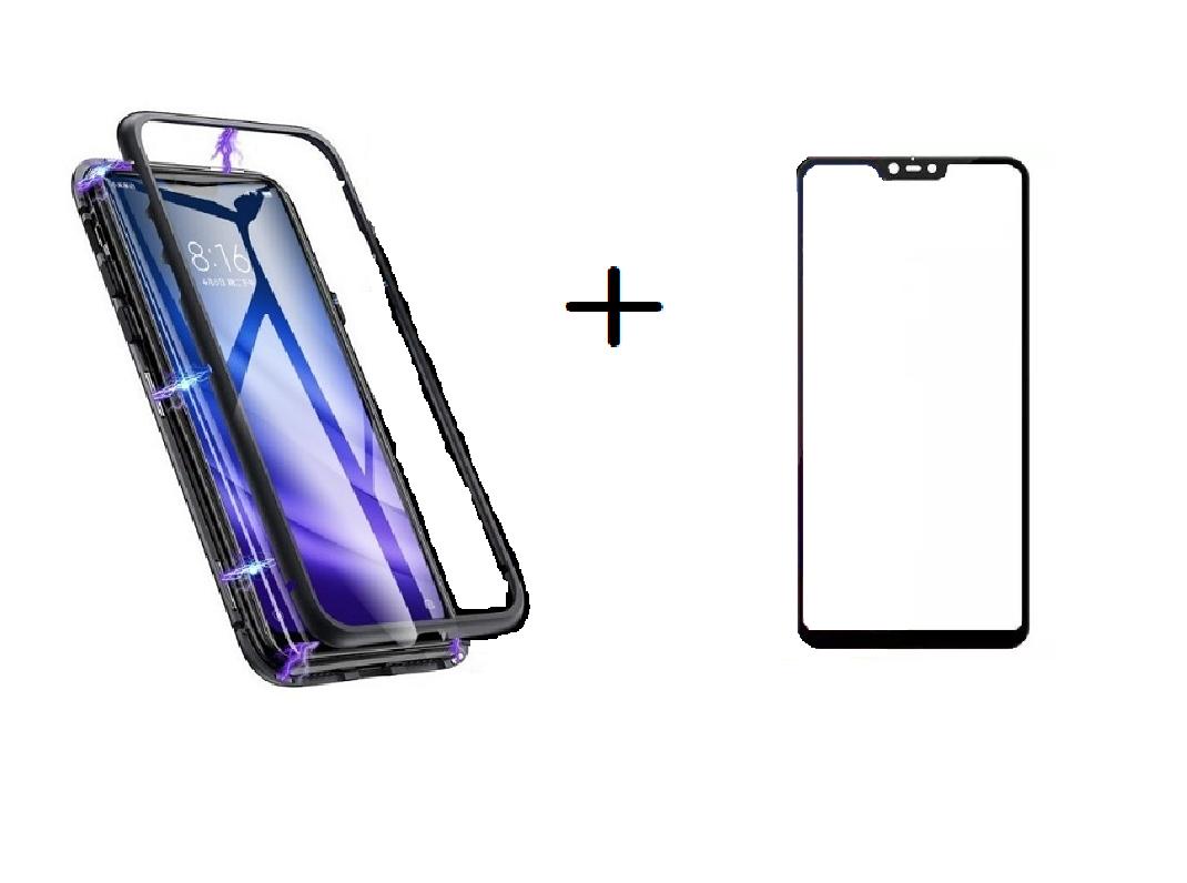Capa 360 Magnetica Xiaomi Mi 8 Lite + Película 5D Vidro