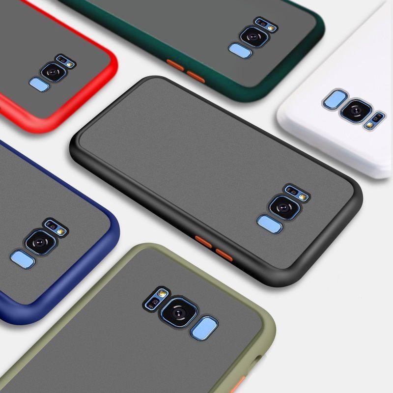 Capa Anti Impacto Borda de borracha Colorida Capa Emborrachada Galaxy S8