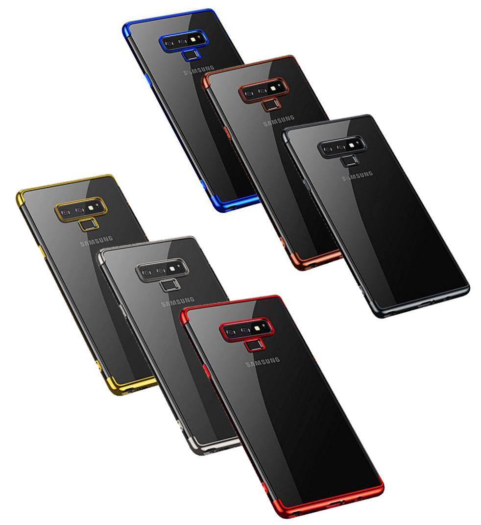 Capa Galaxy Note 9 Silicone Borda Colorida