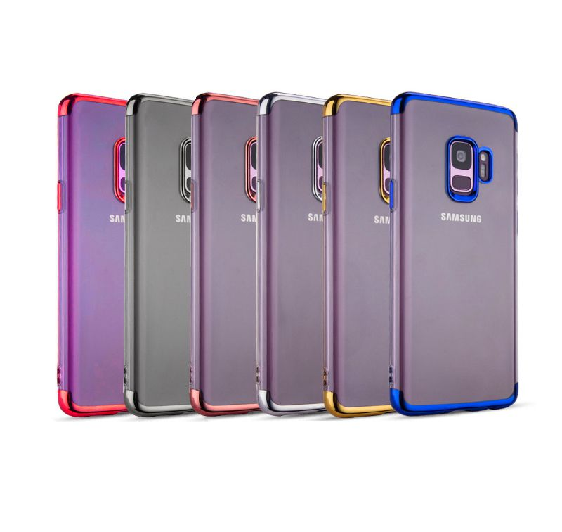 Capa Galaxy S9 Silicone Borda Colorida