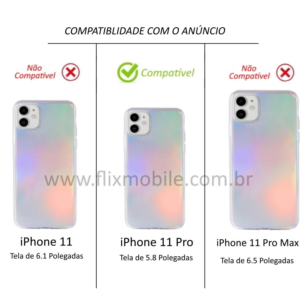 Capa Holográfica Anti Impacto para iPhone 11 Pro tela 5.8 Polegadas