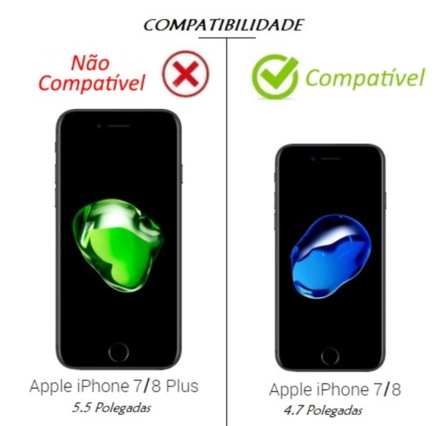 Capa Holográfica Anti Impacto para iPhone 8 tela 4.7 Polegadas