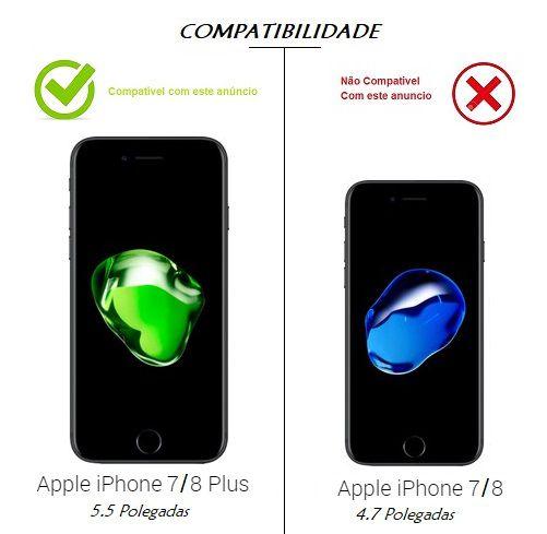Capa Silicone Borda Anti Impacto p/ iPhone 7 8 Plus