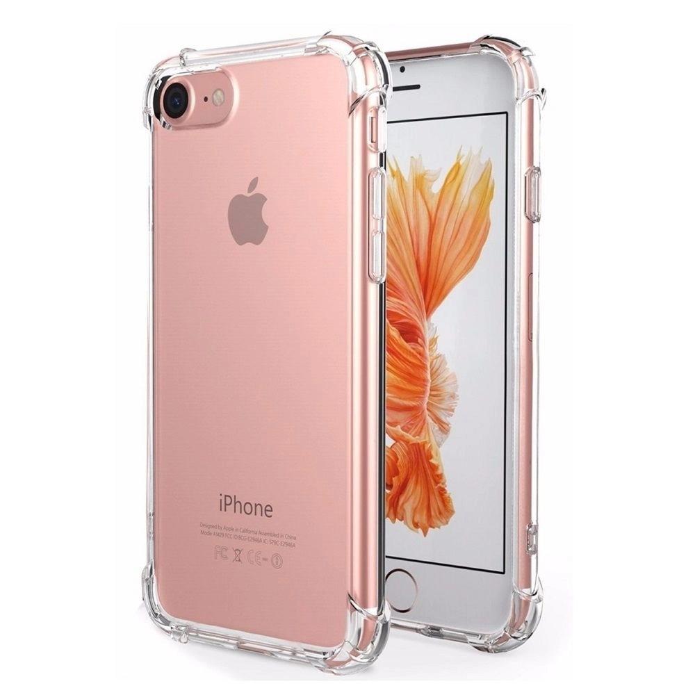 Capa Silicone Borda Anti Impacto para iPhone 7 - 4.7 Polegadas