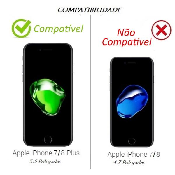 Capa Silicone Borda Anti Impacto para iPhone 7 Plus 5.5 Polegadas