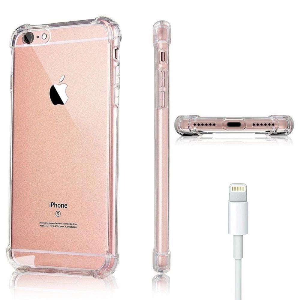 Capa Silicone Borda Anti Impacto para iPhone 8 Plus 5.5 Polegadas