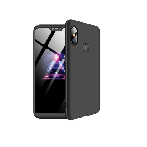 Capa Case Capinha 360º Mi A2 Lite e Xiaomi Redmi 6 Pro Gkk - Preta