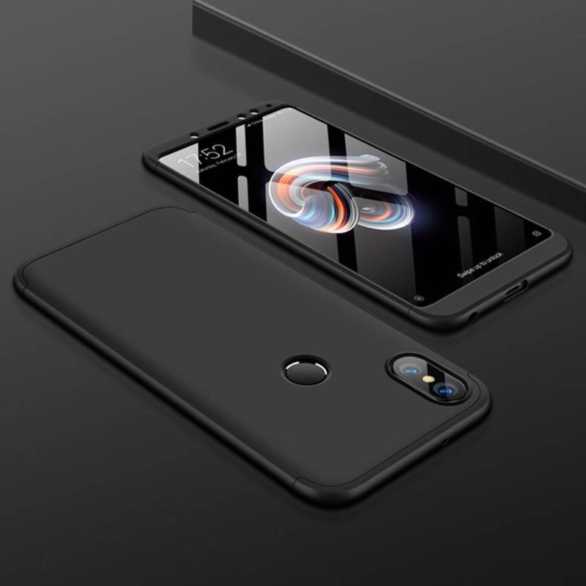 Capa Ultra Fina 360 Para Xiaomi Redmi Note 6 Pro Gkk - Preta