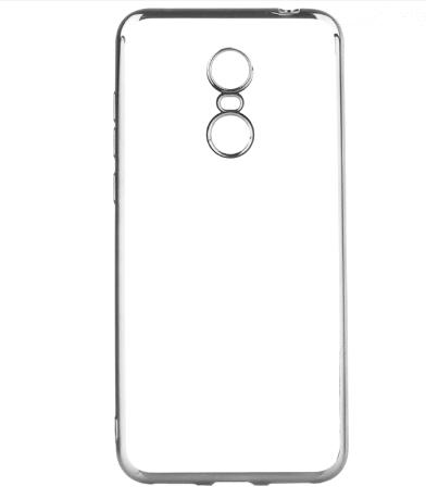 Capinha Silicone Xiaomi Redmi 5 tela 5.7 Pol Borda Prata