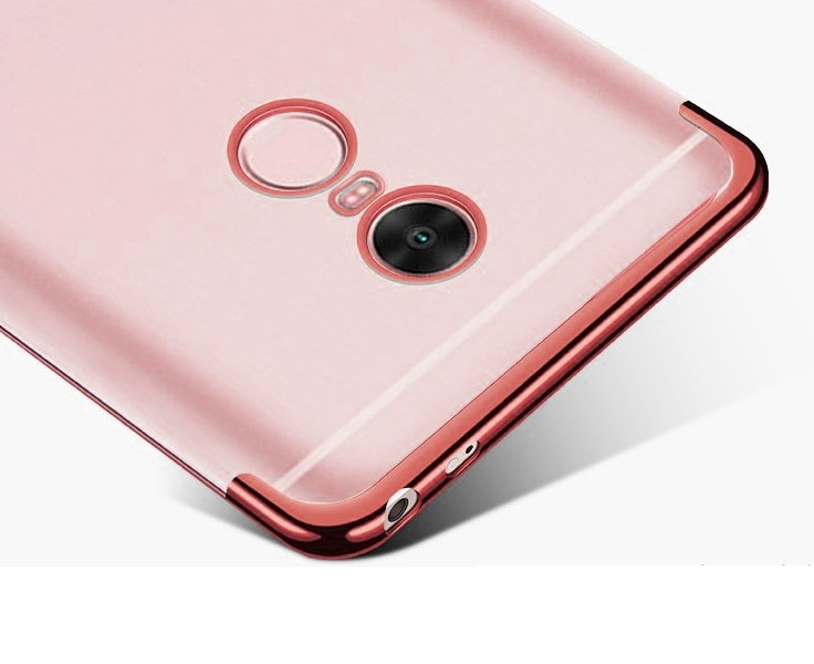 Capinha Silicone Xiaomi Redmi 5 tela 5.7 Pol Borda Rose