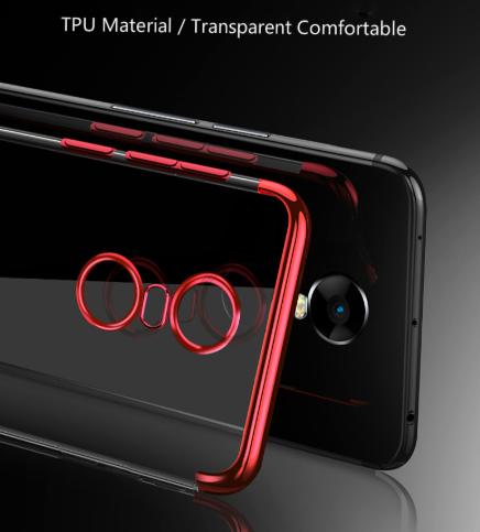 Capinha Silicone Xiaomi Redmi 5 tela 5.7 Pol Borda Vermelha