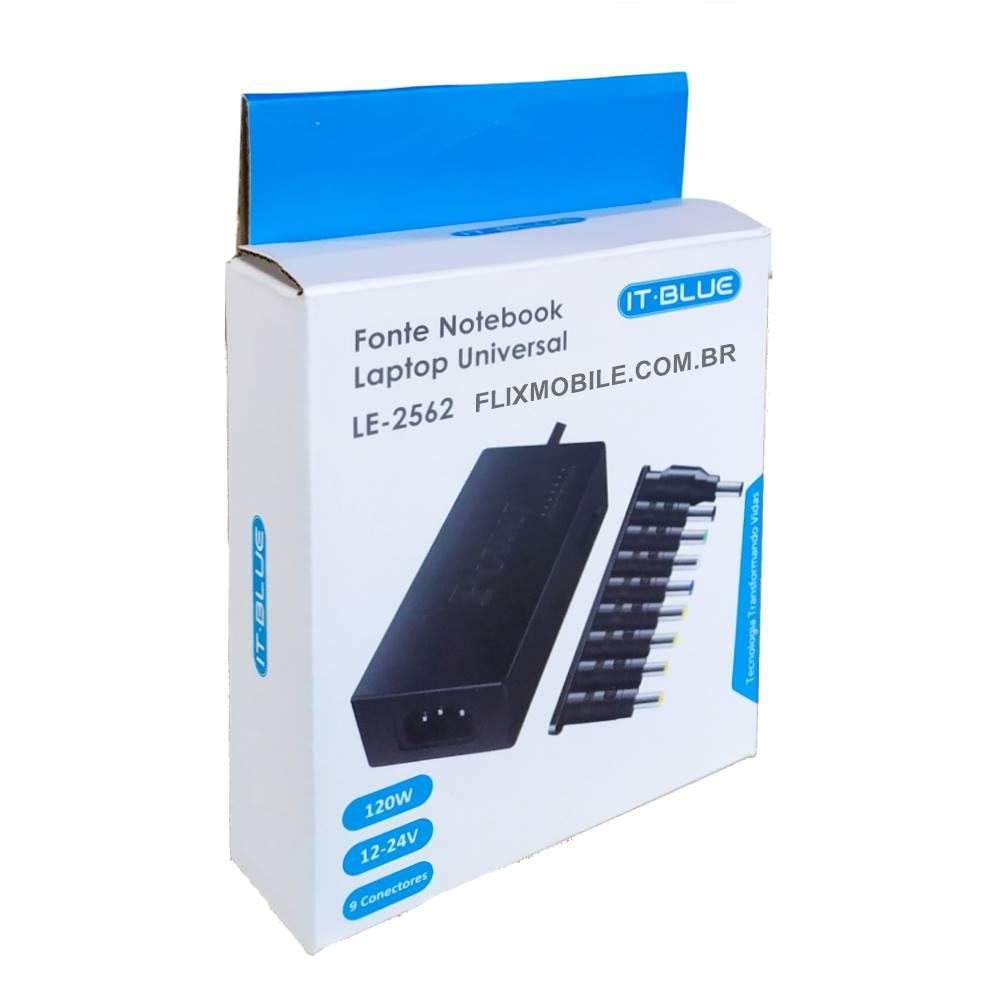 Carregador Universal Notebook Bivolt Chaveamento para 12 15 16 18 19 20 e 24v