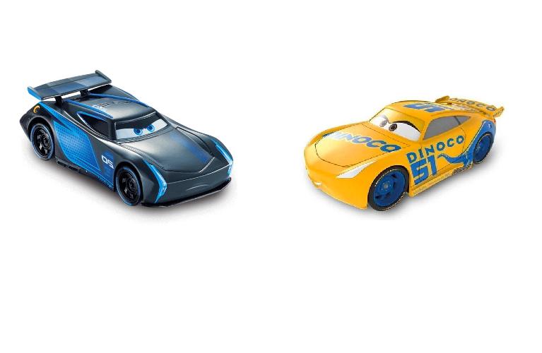 Carrinho 22cm Fricção Carros 3 Disney Cruz Ramirez e Jackson Storm