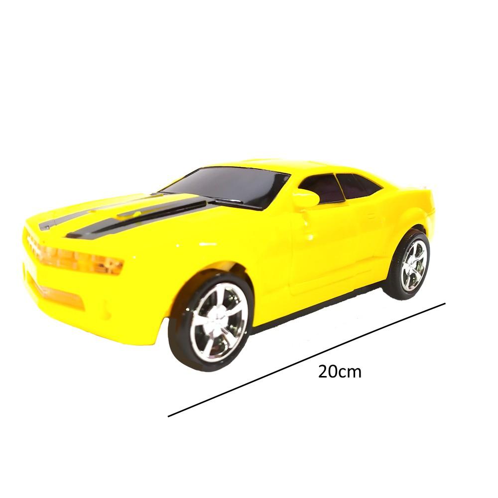 Carrinho Camaro Amarelo Robô Bee Carro se Transforma em Robô com Música e Luz