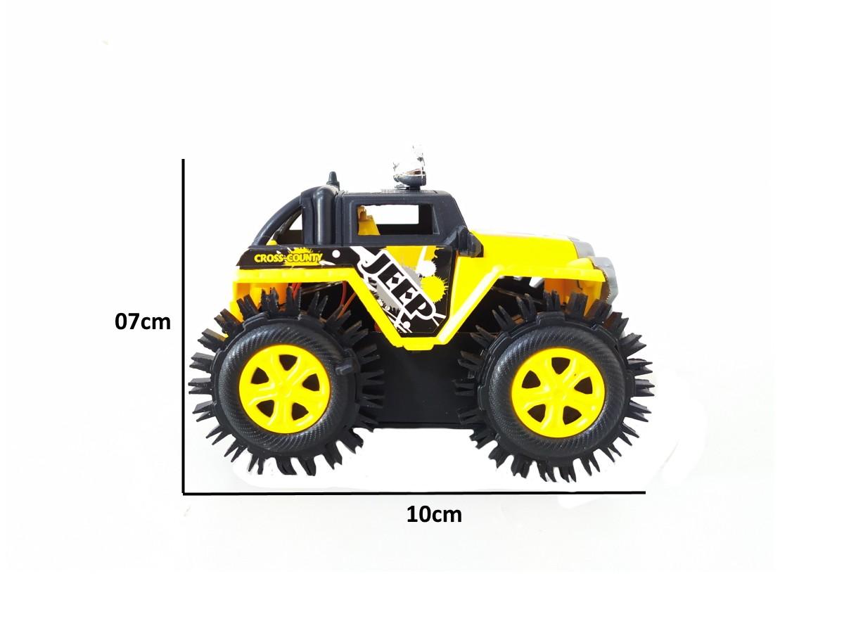 Carrinho Cambalhota Jipe Maluco Bate Gira 360 e Volta Brinquedo infantil - Kit com 3