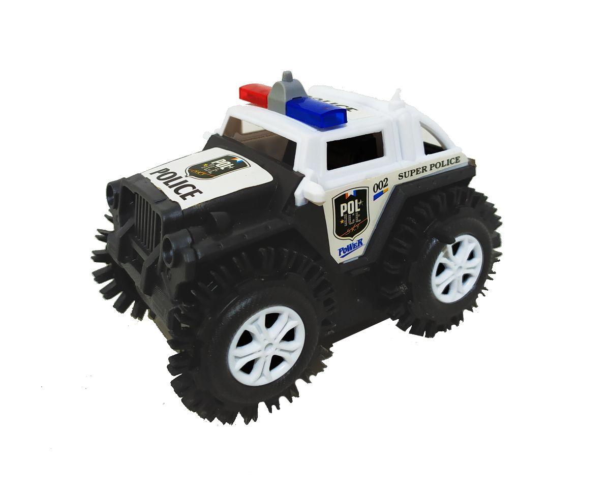 Carrinho Cambalhota Jipe Maluco Bate Gira 360 e Volta Brinquedo Jeep infantil - Coleção com 7 Carros