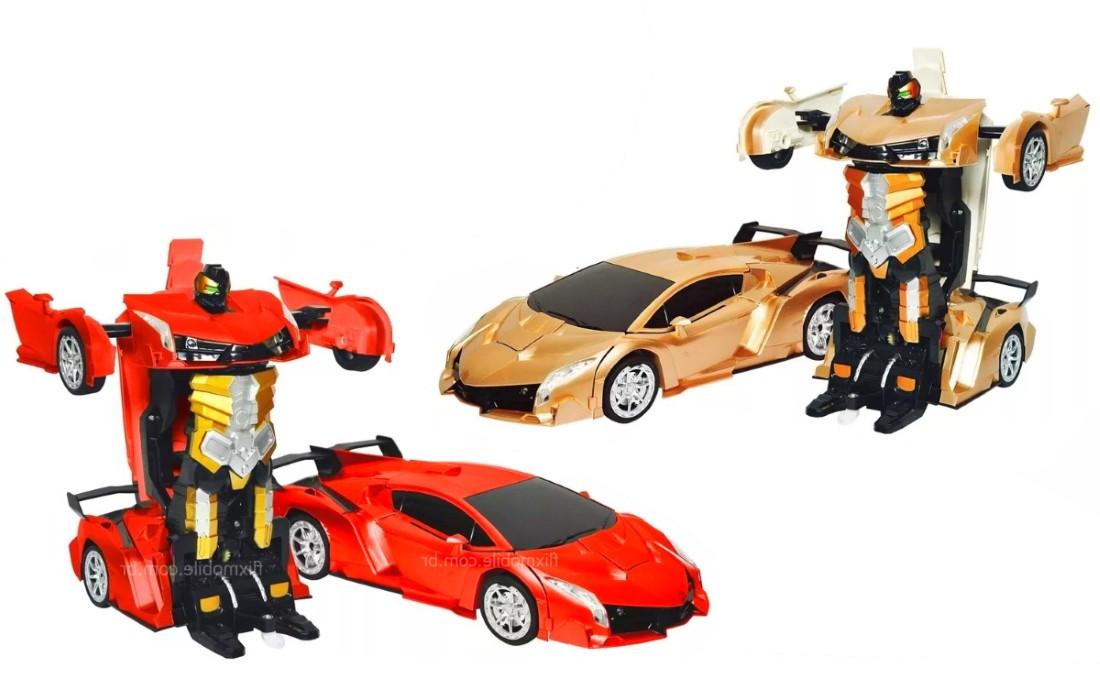 Carrinho Controle Remoto Lamborguini Sem Fio Recarregável Transformers